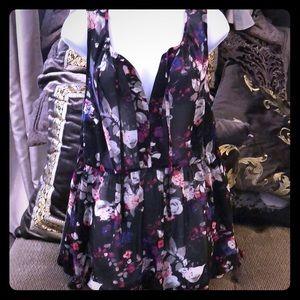 Torrid women's sheer tank blouse size 0 euc